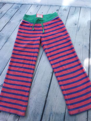 Mini Boden pink and blue towelling joggers age 6 (fits 5-6) playwear